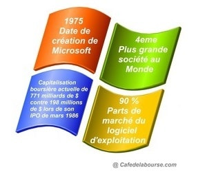 Microsoft analyse geant mondial logiciel