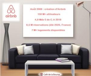 Airbnb introduction Bourse leader tourisme entre particuliers 2020